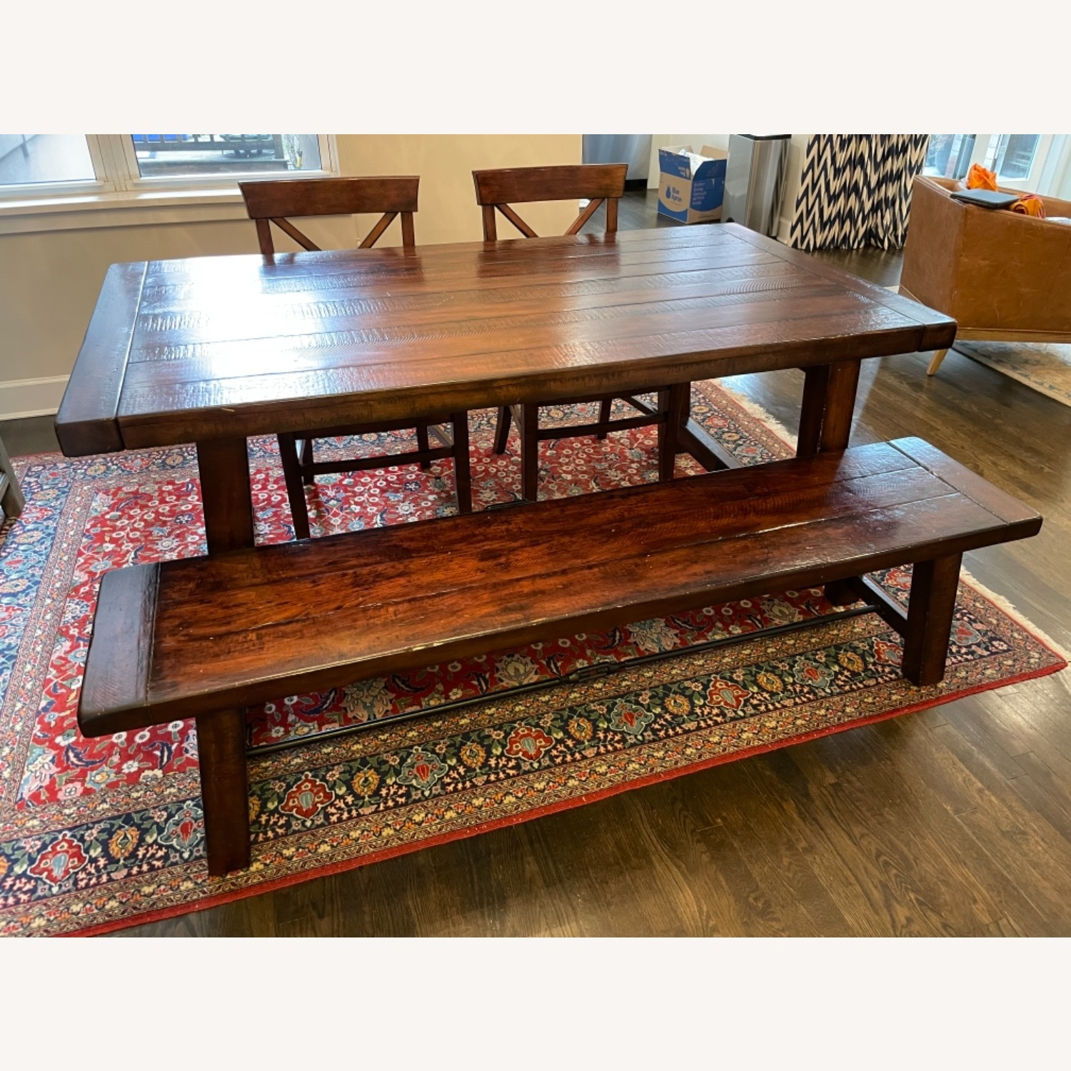 Pottery Barn Benchwright Extending Dining Set - image-1