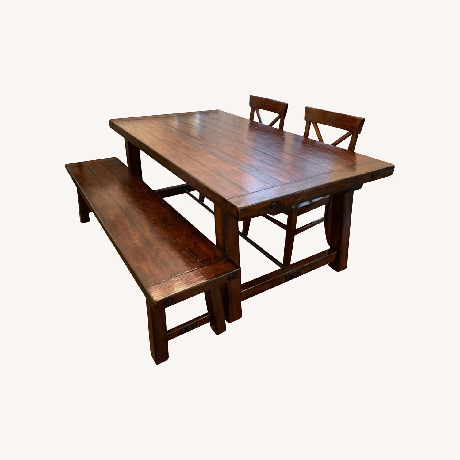 Pottery Barn Benchwright Extending Dining Set - image-0
