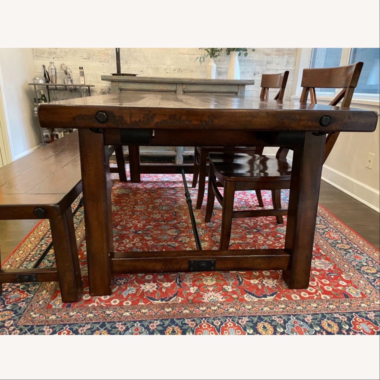 Pottery Barn Benchwright Extending Dining Set - image-7