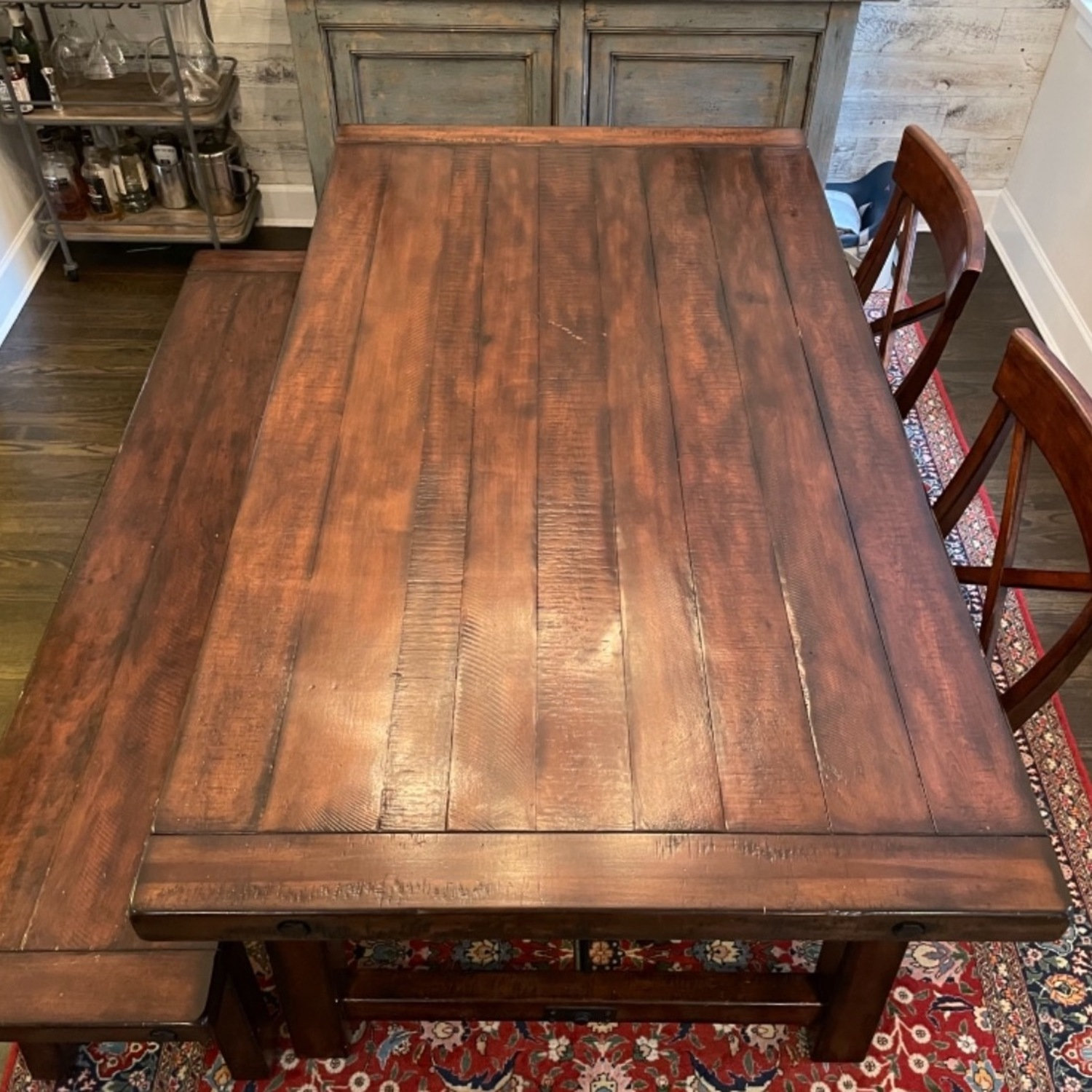 Pottery Barn Benchwright Extending Dining Set - image-6