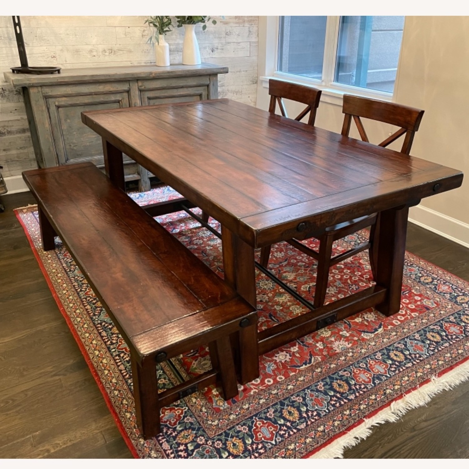 Pottery Barn Benchwright Extending Dining Set - image-5