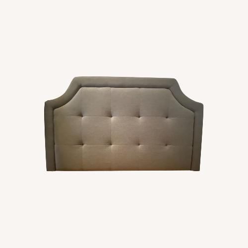 Used Scalloped headboard with French Clete for sale on AptDeco