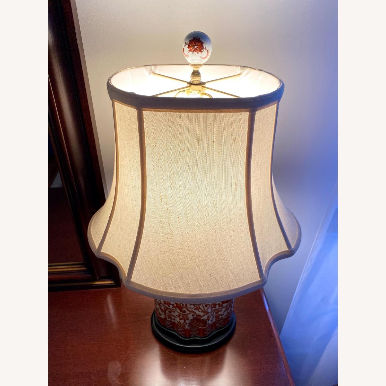 Coral Porcelain Scalloped Tea Jar Table Lamp - image-3