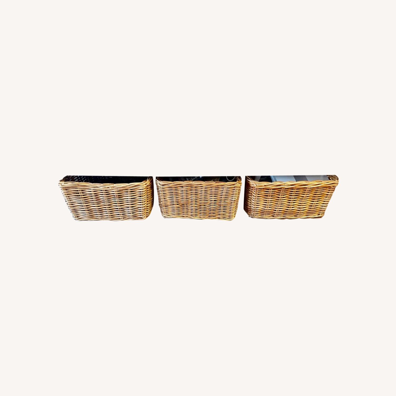 3 Wicker Storage Baskets - image-0