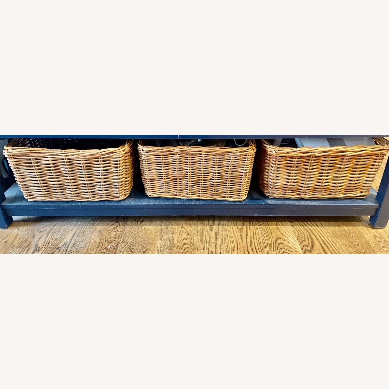 3 Wicker Storage Baskets - image-1