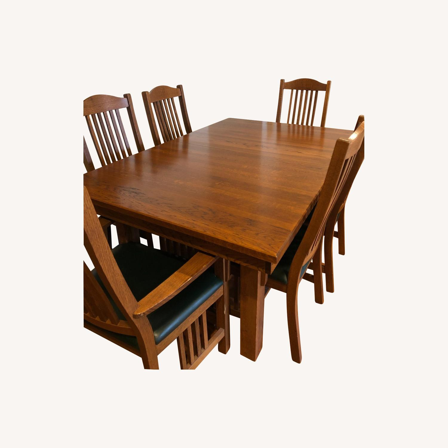 Mission-style Dining Table & Chairs - image-0