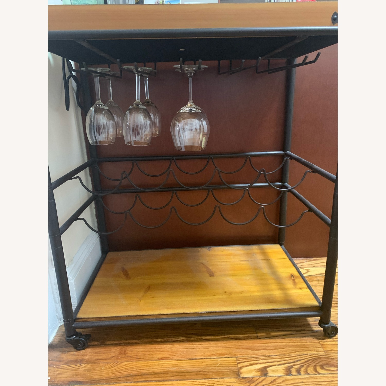 Wayfair Distressed Wood Bar/Serving Cart - image-2