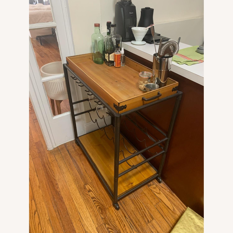 Wayfair Distressed Wood Bar/Serving Cart - image-3