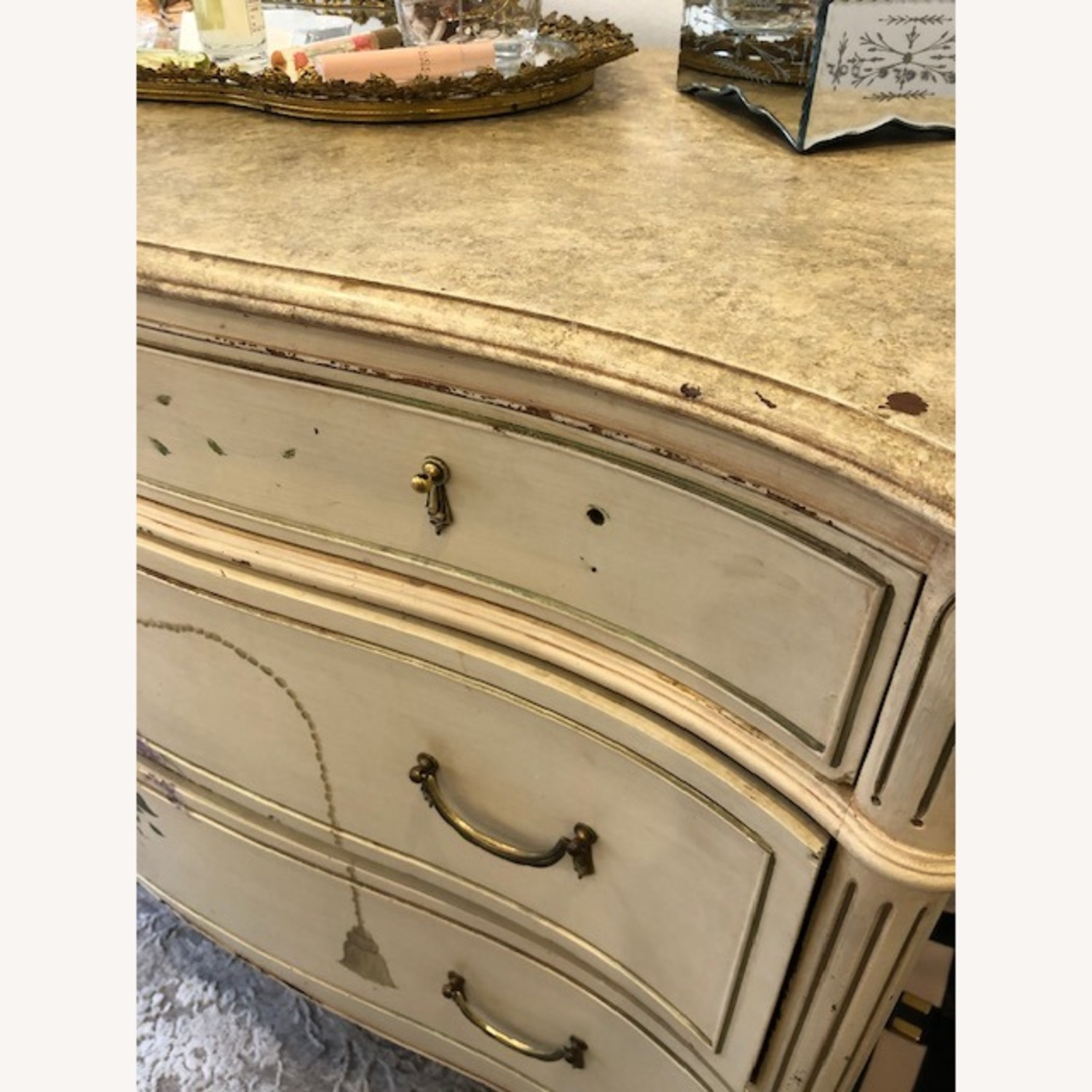 Antique French Provincial 3 Draw Dresser - image-3