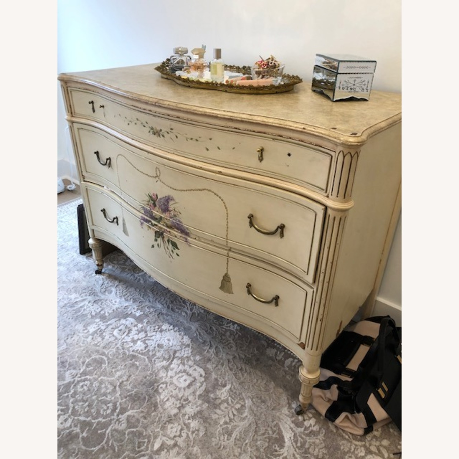 Antique French Provincial 3 Draw Dresser - image-2