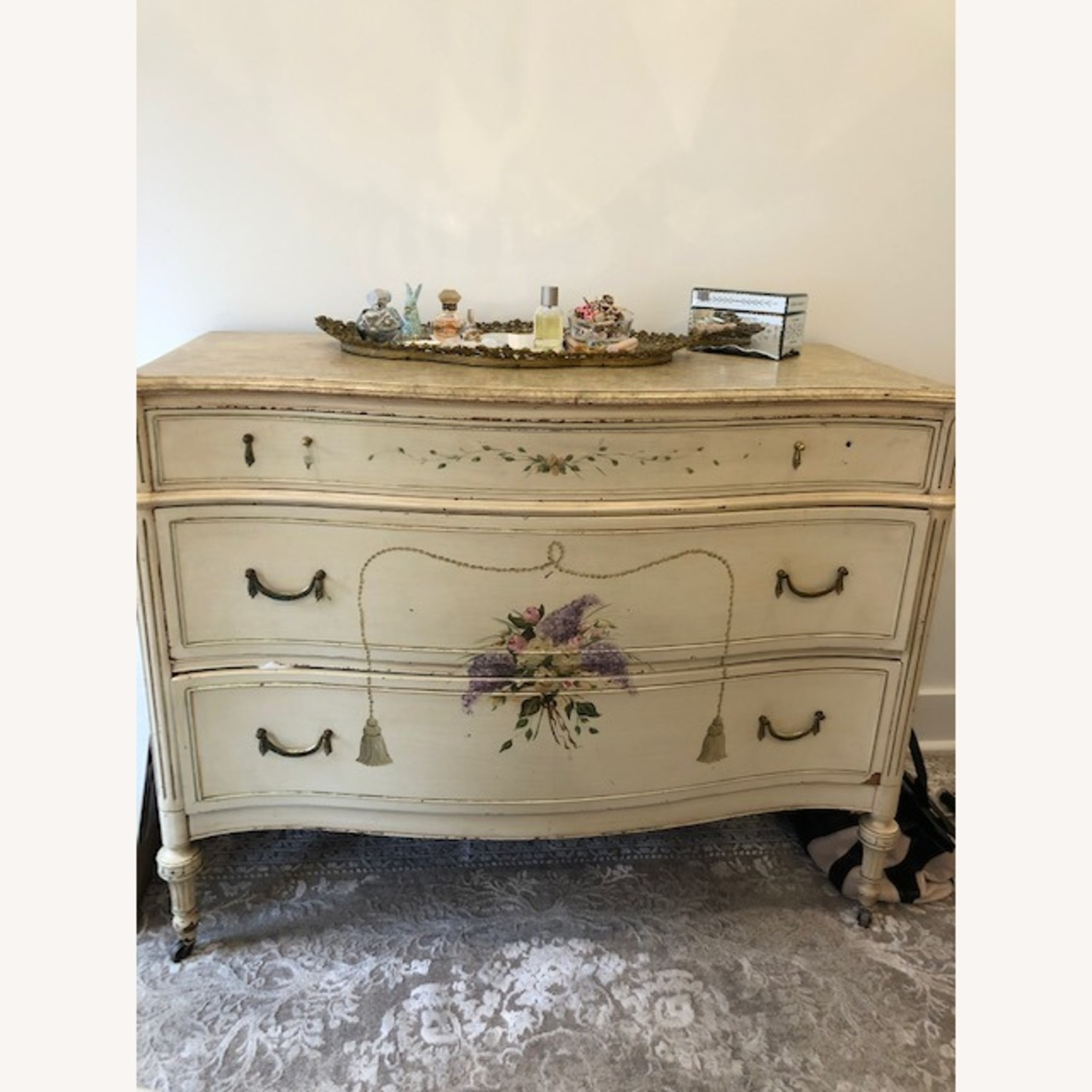 Antique French Provincial 3 Draw Dresser - image-1