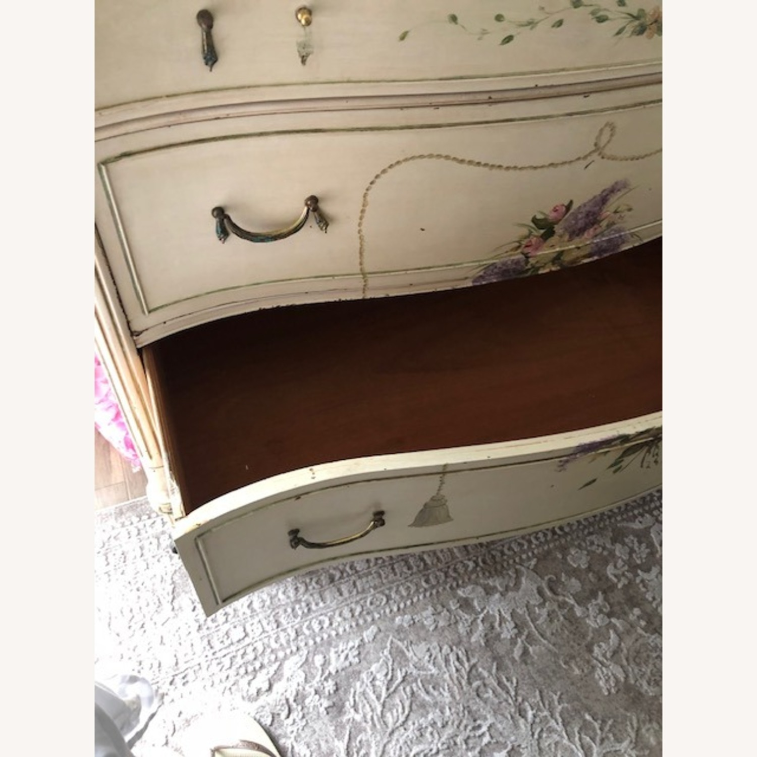 Antique French Provincial 3 Draw Dresser - image-9