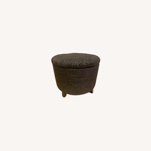 Used Gray Storage Ottoman for sale on AptDeco