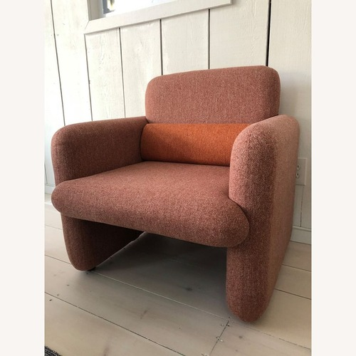 Used Industry West Plume Lounge Chair - Red/Pink for sale on AptDeco