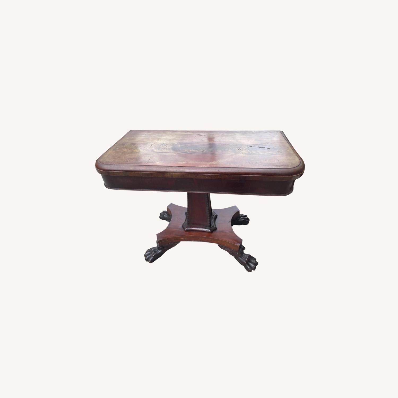 Antique 1920s Mahogany Folding Table - image-0
