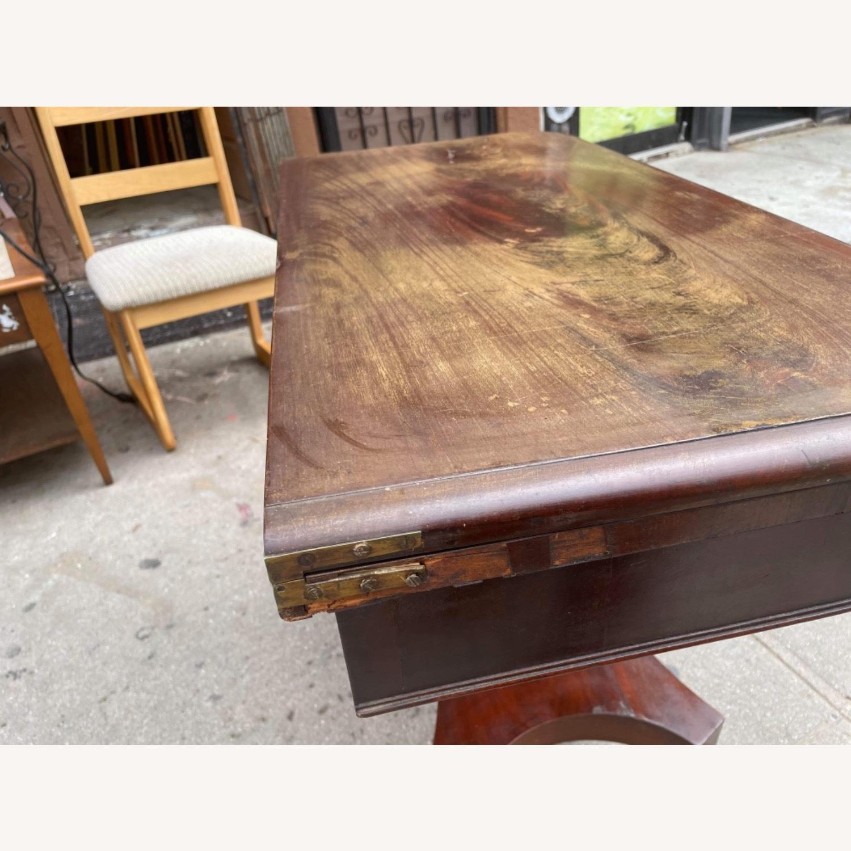 Antique 1920s Mahogany Folding Table - image-14