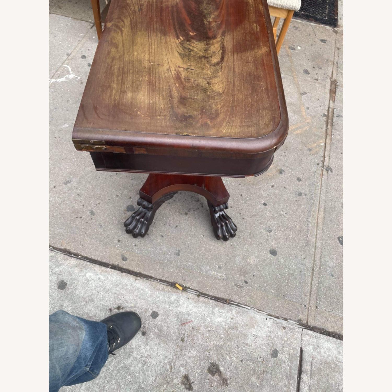 Antique 1920s Mahogany Folding Table - image-6
