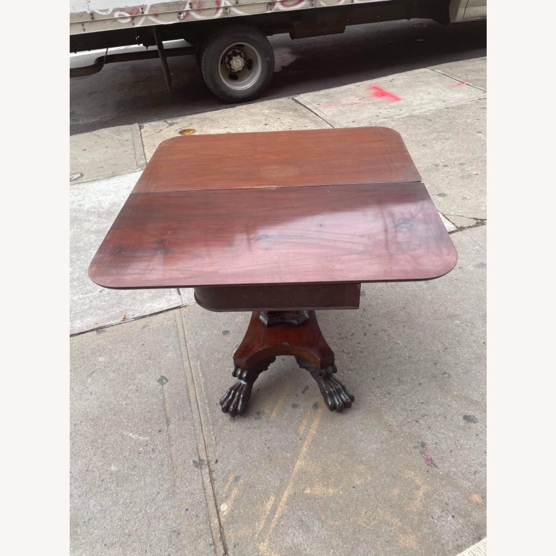 Antique 1920s Mahogany Folding Table - image-2
