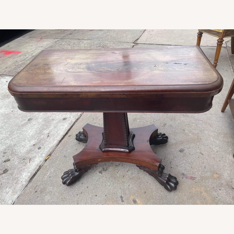 Antique 1920s Mahogany Folding Table - image-1