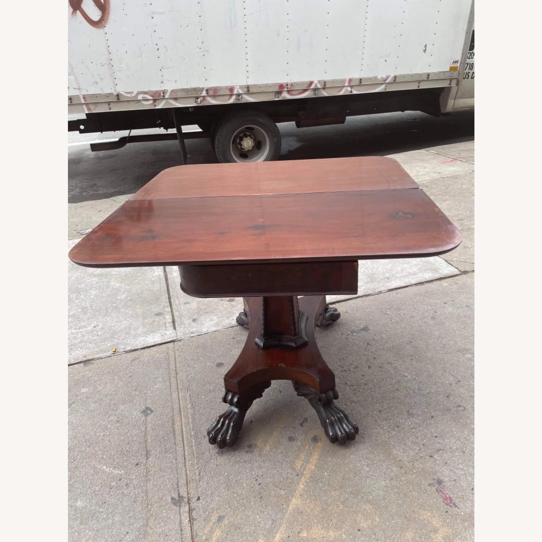 Antique 1920s Mahogany Folding Table - image-11