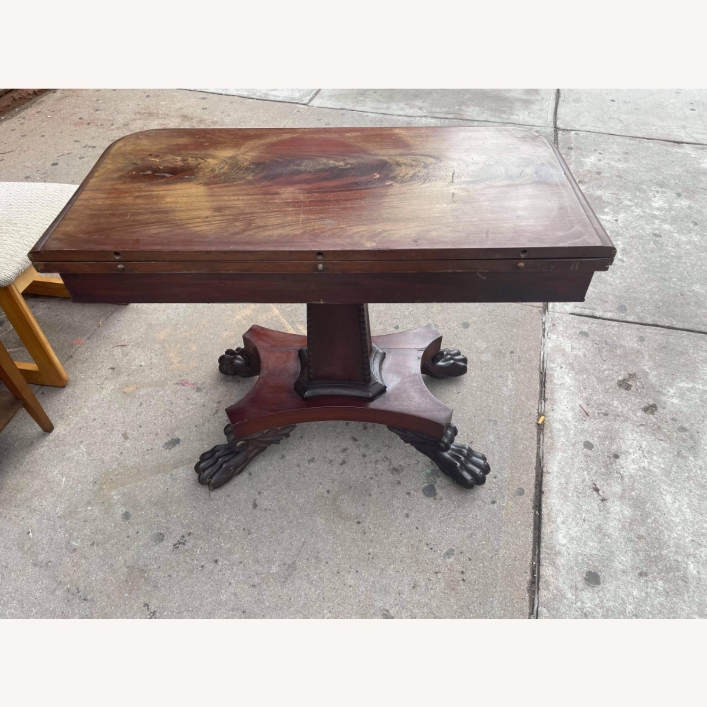 Antique 1920s Mahogany Folding Table - image-17