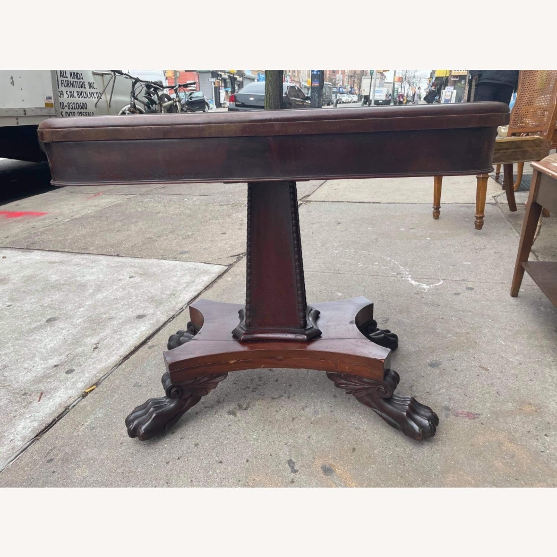 Antique 1920s Mahogany Folding Table - image-9