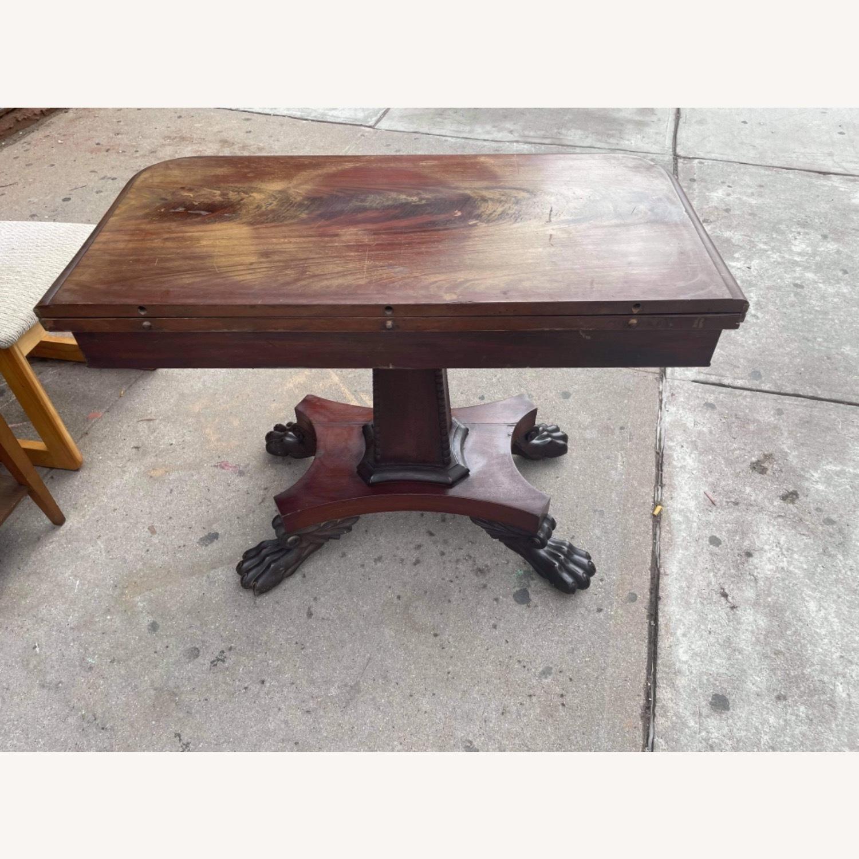 Antique 1920s Mahogany Folding Table - image-3