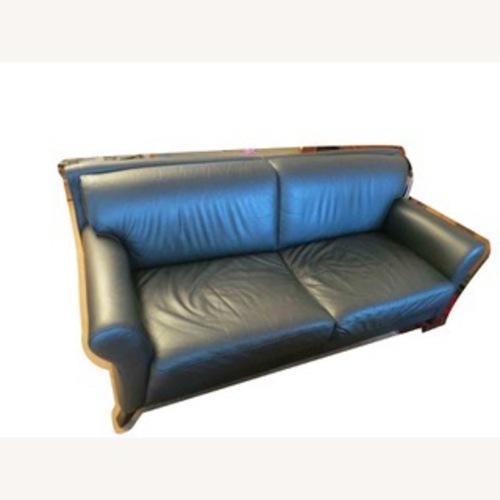 Used Black Leather 2 Seater Sofa for sale on AptDeco