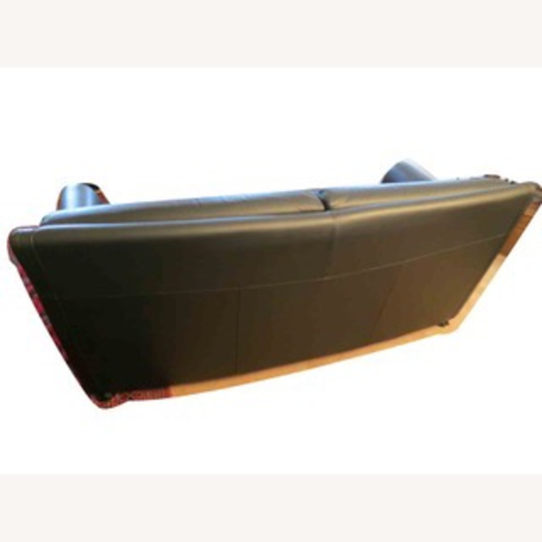 Black Leather 2 Seater Sofa - image-9
