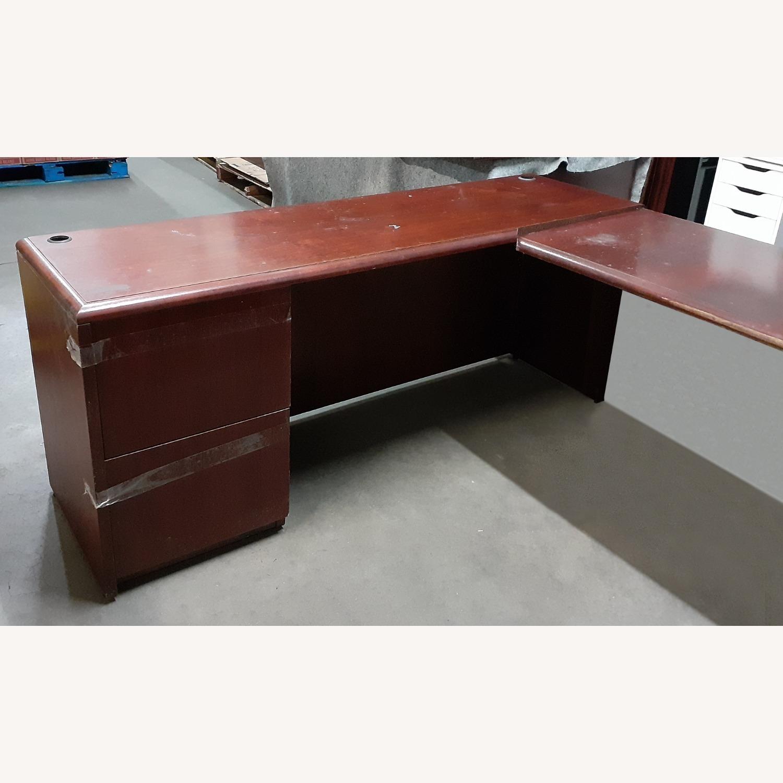 National Arrowood U Shaped Executive Desk - image-2
