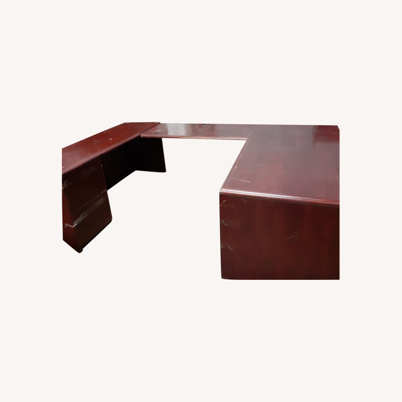 National Arrowood U Shaped Executive Desk - image-0
