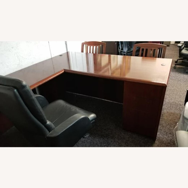 National Arrowood U Shaped Executive Desk - image-5