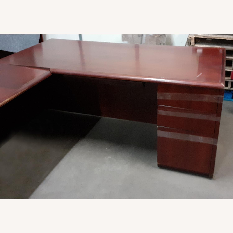 National Arrowood U Shaped Executive Desk - image-3