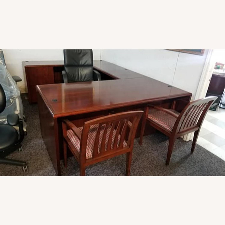 National Arrowood U Shaped Executive Desk - image-4