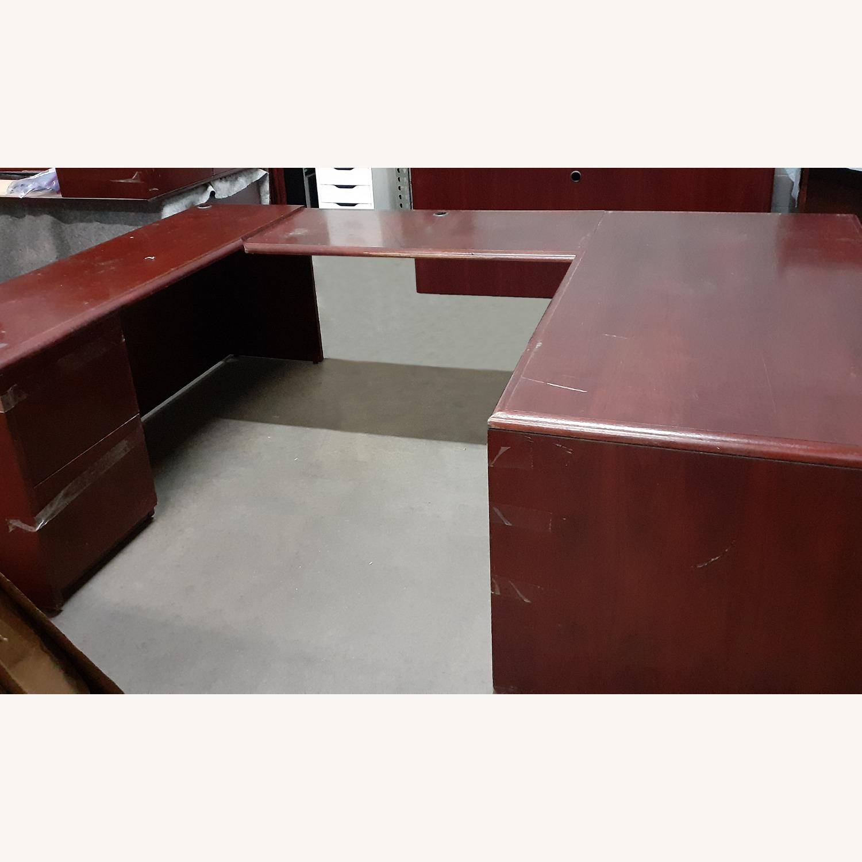 National Arrowood U Shaped Executive Desk - image-1