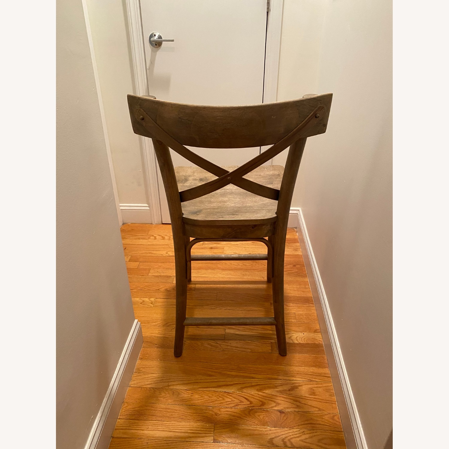 Distressed Wood Bistro Counter Stool - image-3