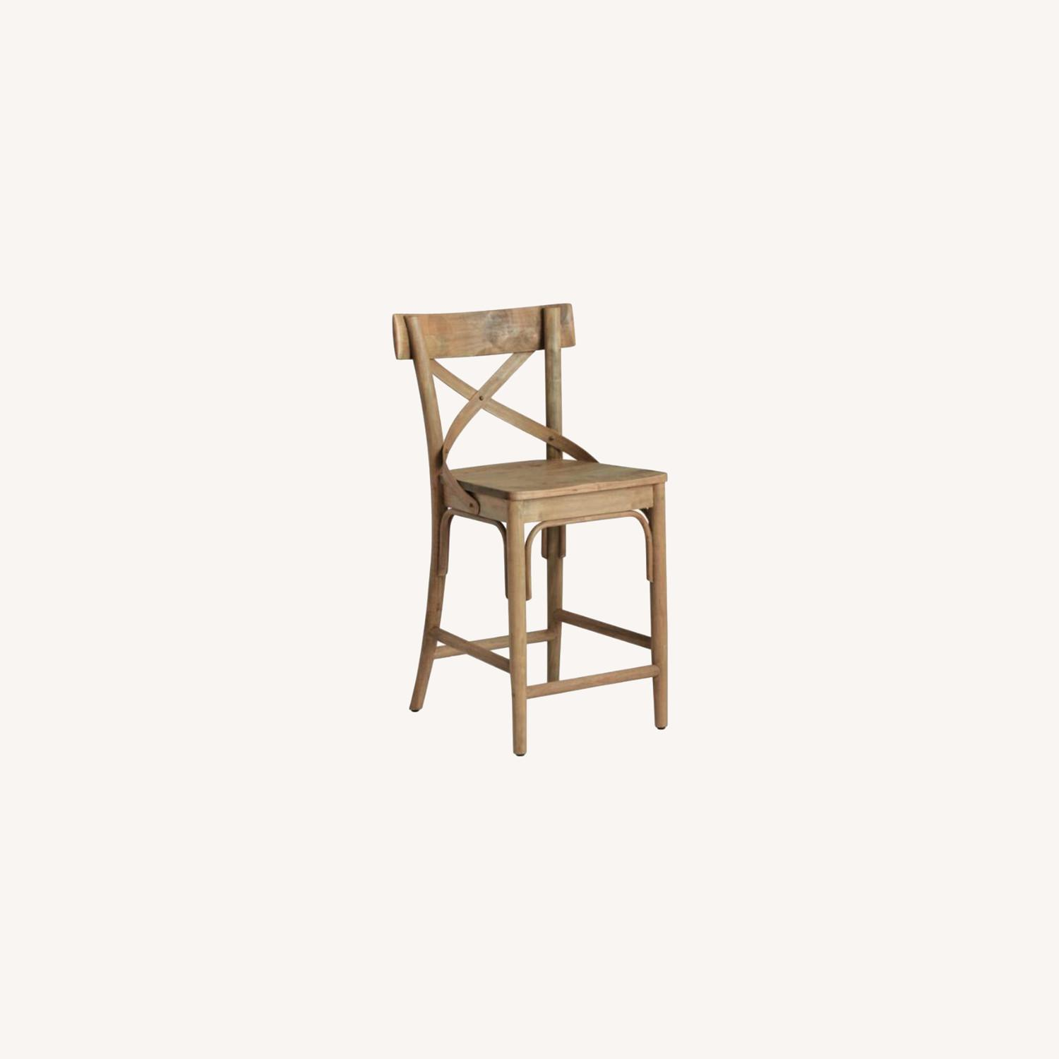 Distressed Wood Bistro Counter Stool - image-0