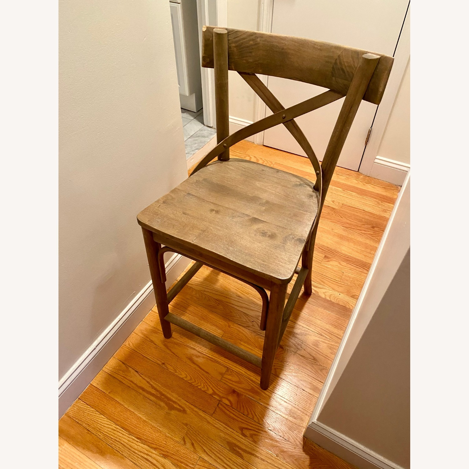 Distressed Wood Bistro Counter Stool - image-2