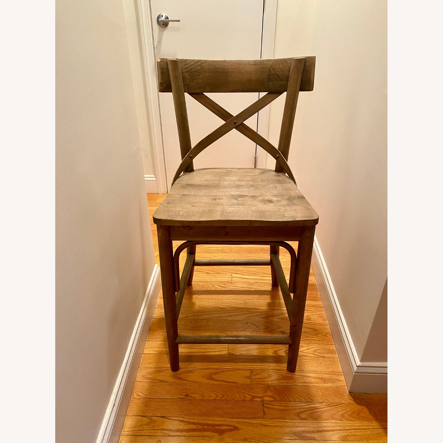 Distressed Wood Bistro Counter Stool - image-1
