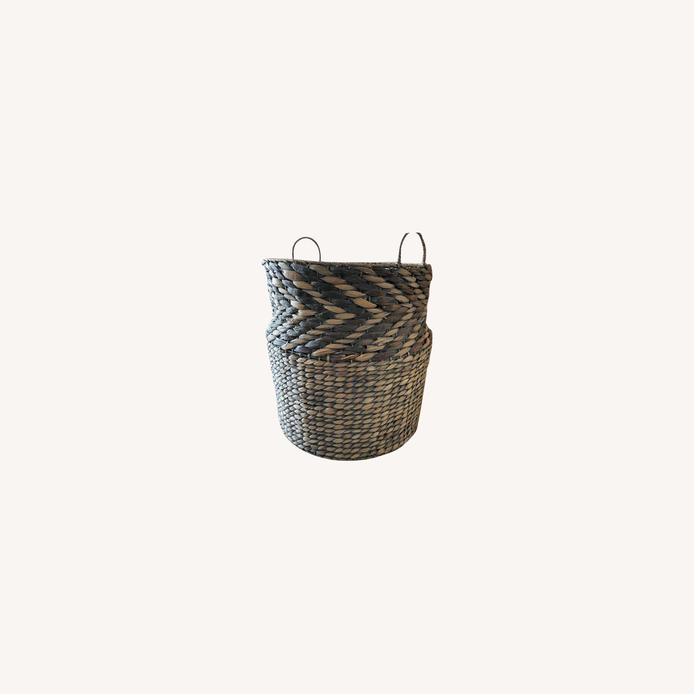 Large Diameter Woven Basket - image-0