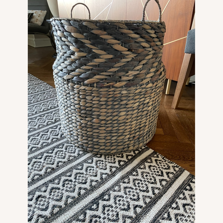 Large Diameter Woven Basket - image-1