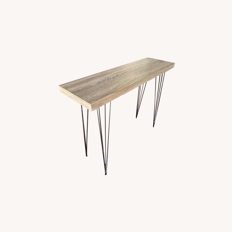 World Market Wood Veneer Side Table - image-0