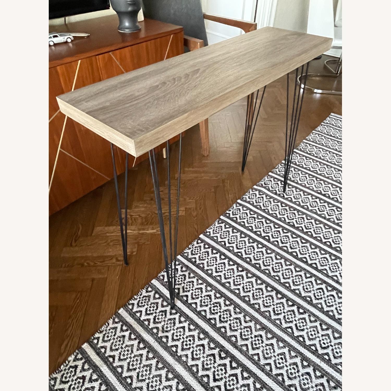 World Market Wood Veneer Side Table - image-1