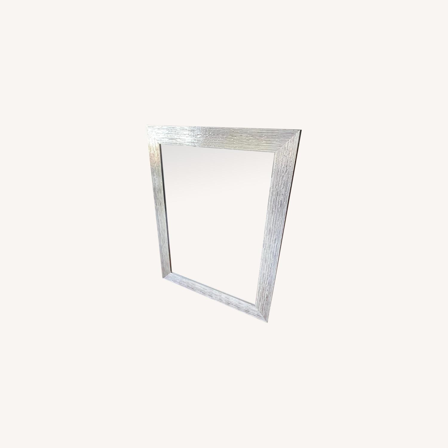Silver Mosaic Style Mirror - image-0