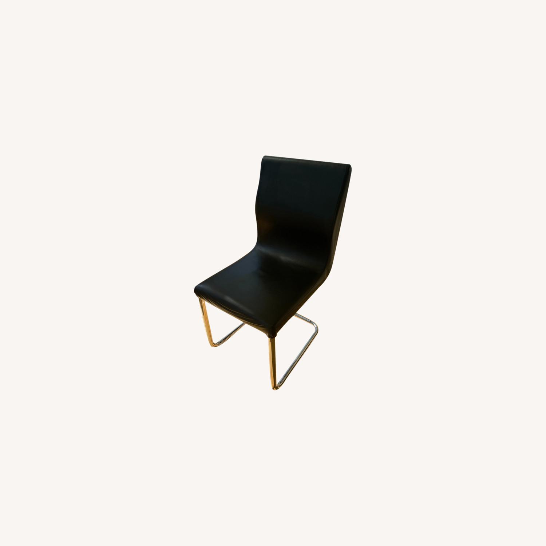 Modani Modern Black Leather Dining Chair - image-0