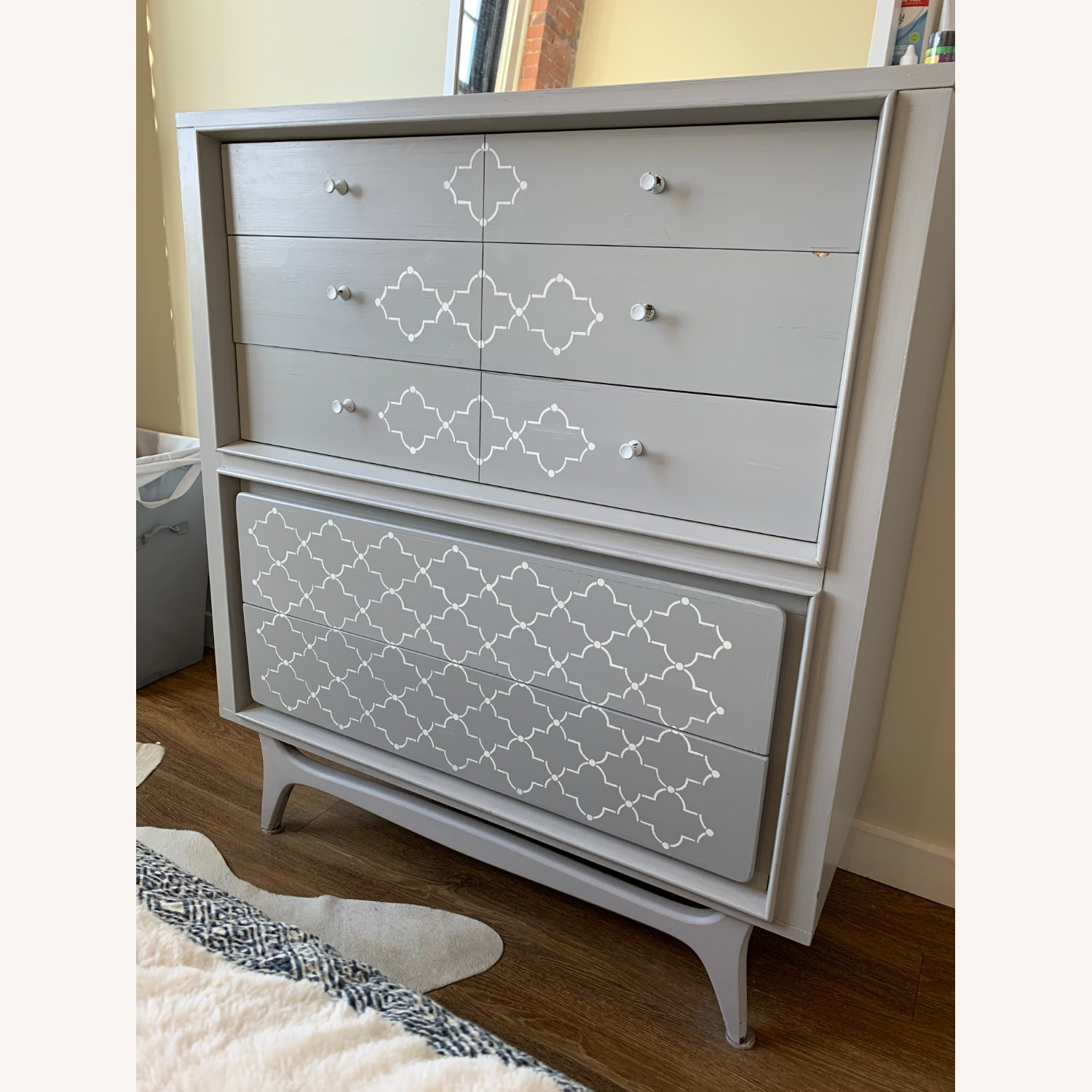 Hand-painted Grey Dresser - image-1