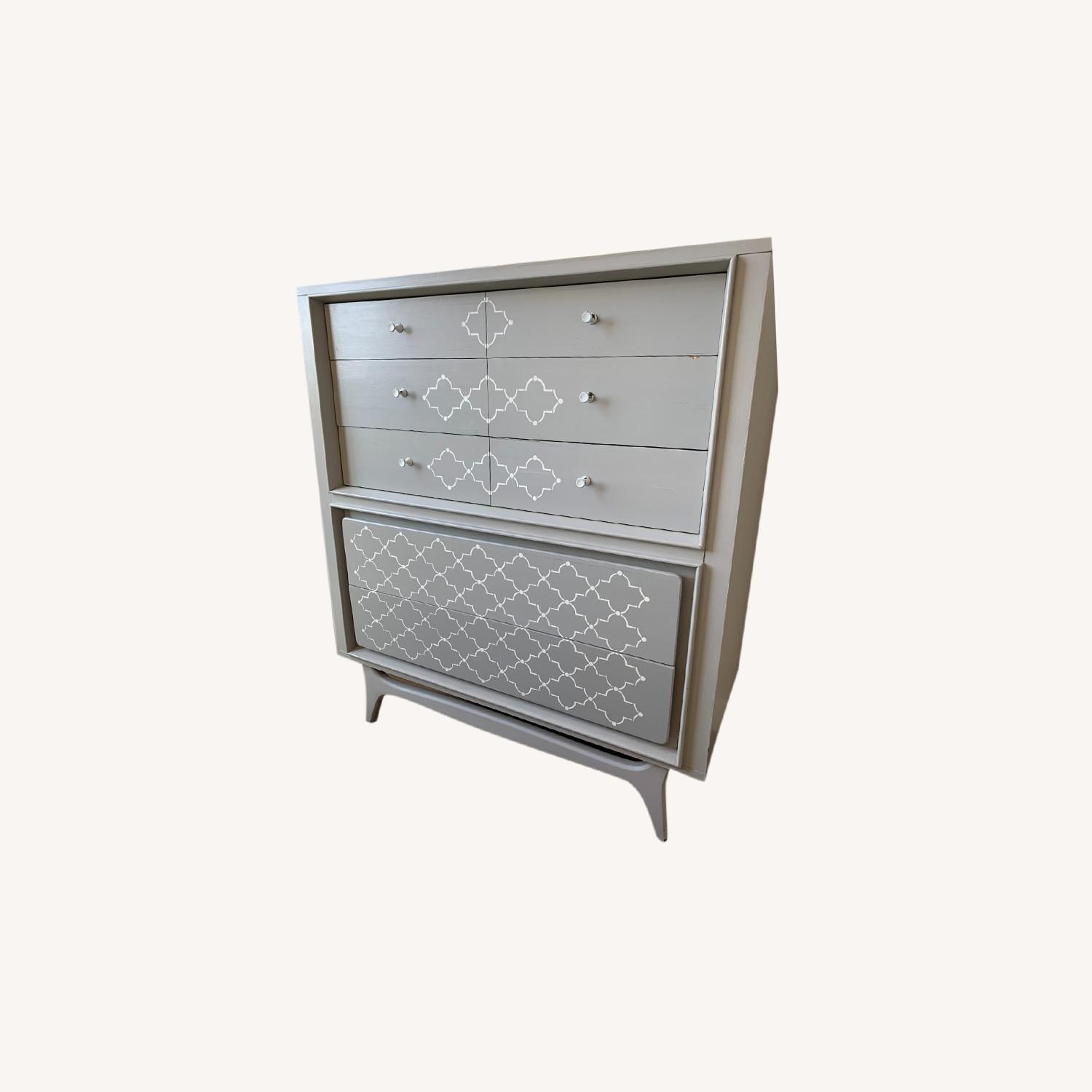 Hand-painted Grey Dresser - image-0