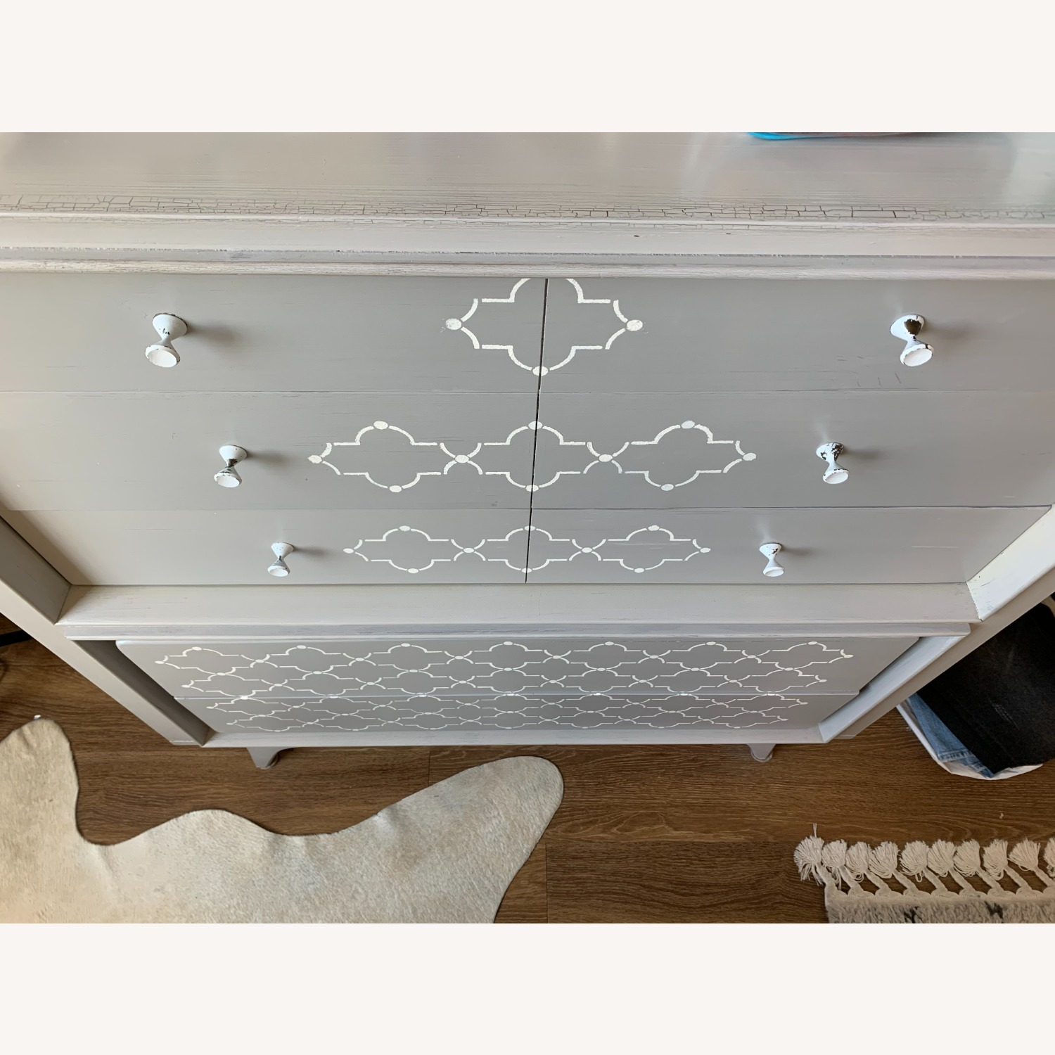 Hand-painted Grey Dresser - image-3