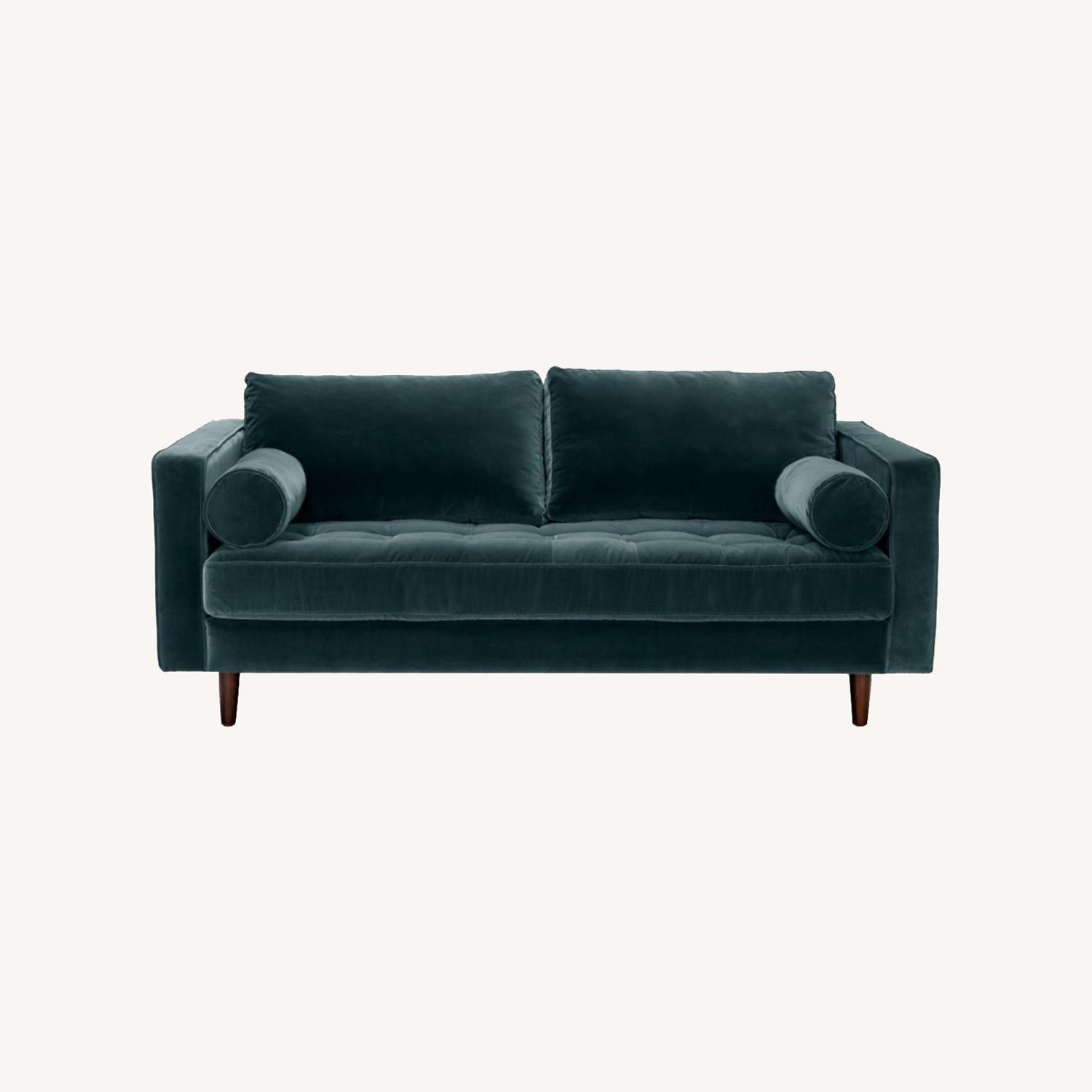 Article Pacific Blue Sven Velvet Two Seater Sofa - image-0