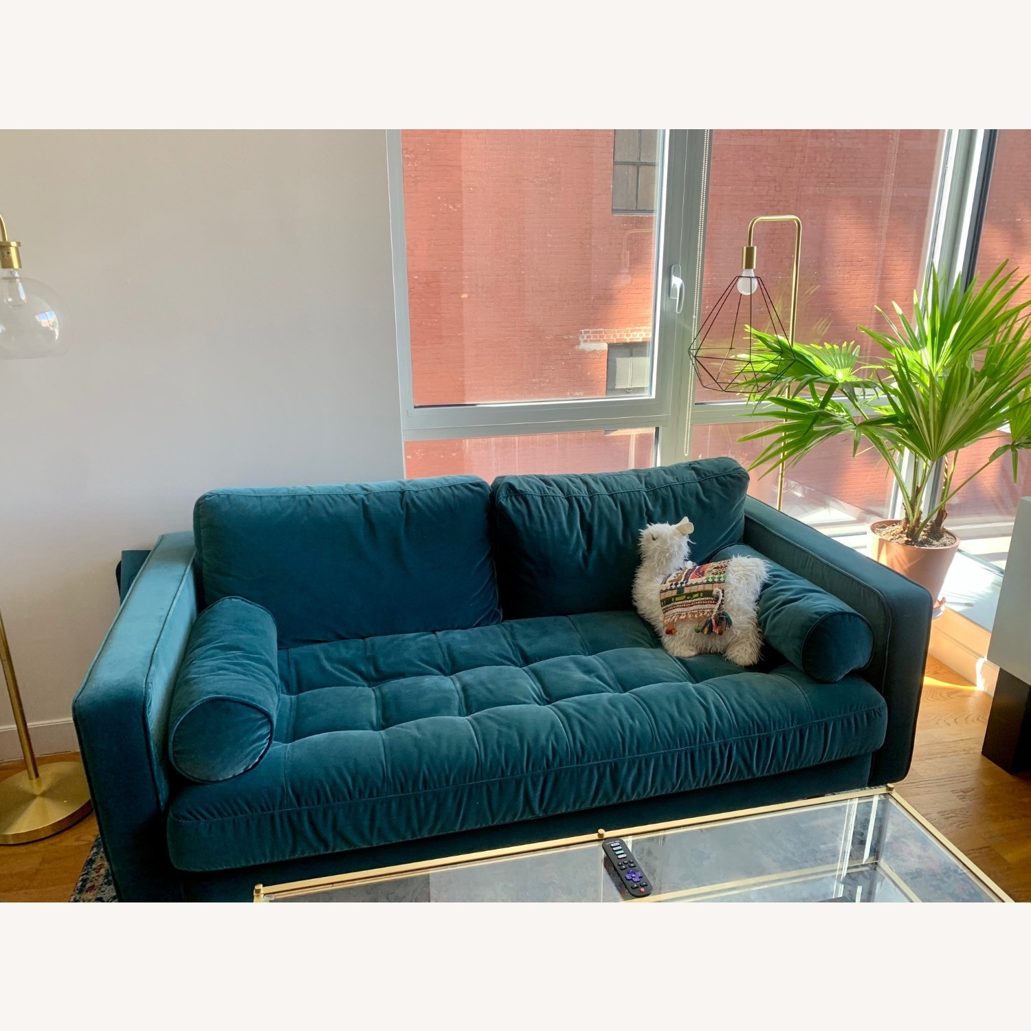 Article Pacific Blue Sven Velvet Two Seater Sofa - image-2